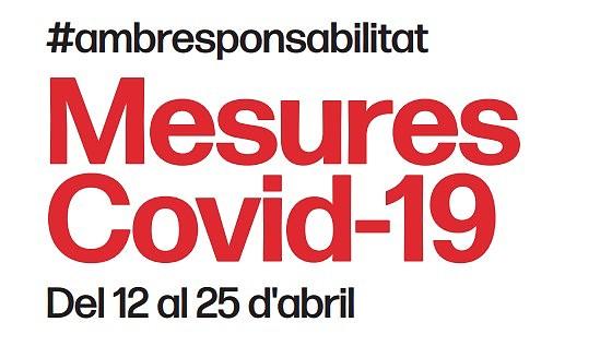 Actualització noves mesures COVID-19 fins el 25 d'abril