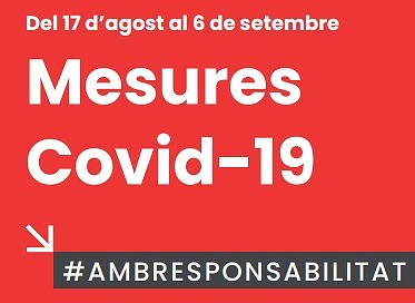 Actualización medidas Covid-19 hasta el 6 de septiembre
