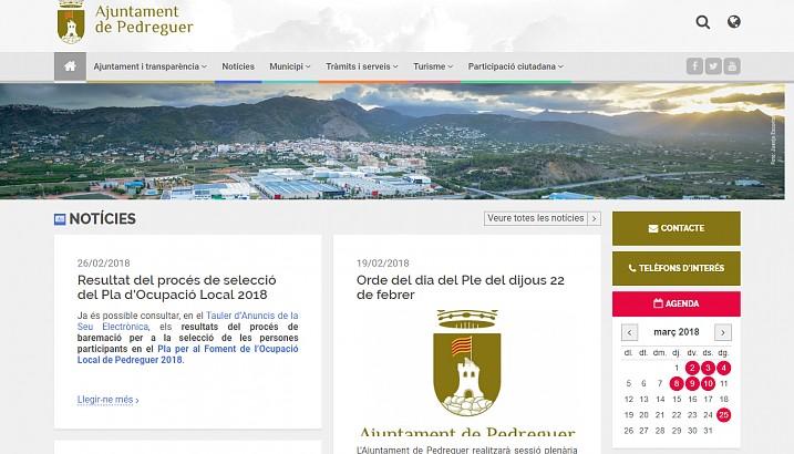 L'Ajuntament de Pedreguer renova per complet el seu lloc web