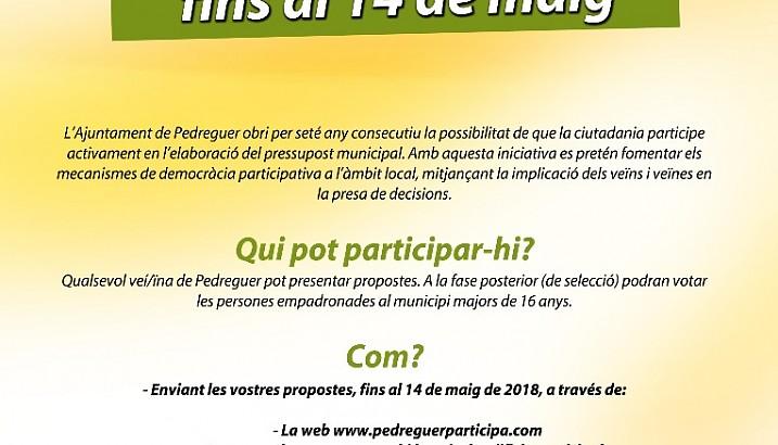Comença la 7a edició dels Pressupostos Participatius