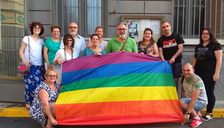 La bandera LGTBI+, al balcó de l'Ajuntament