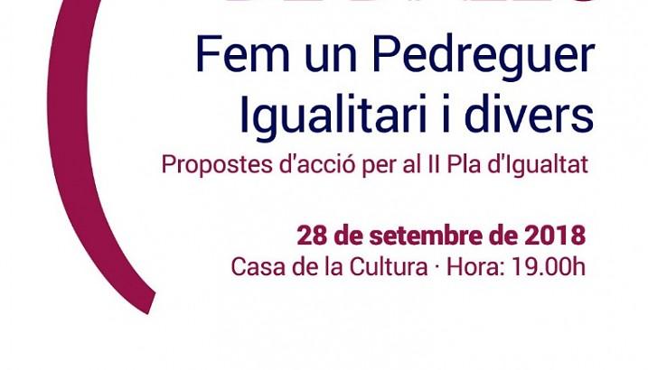 Continua el procés participatiu per a l'elaboració del II Pla d'Igualtat entre homes i dones de Pedreguer