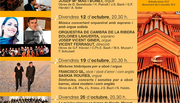 Solistes i formacions instrumentals i vocals de molt alt nivell artístic protagonitzaran la XXII edició dels Concerts de la Tardor