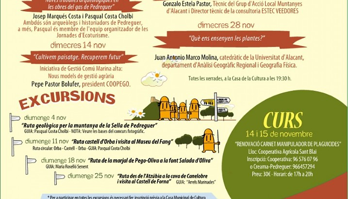 XVII Jornades d'Ecoturisme de Pedreguer