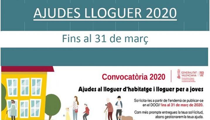 Ajudes al lloguer 2020