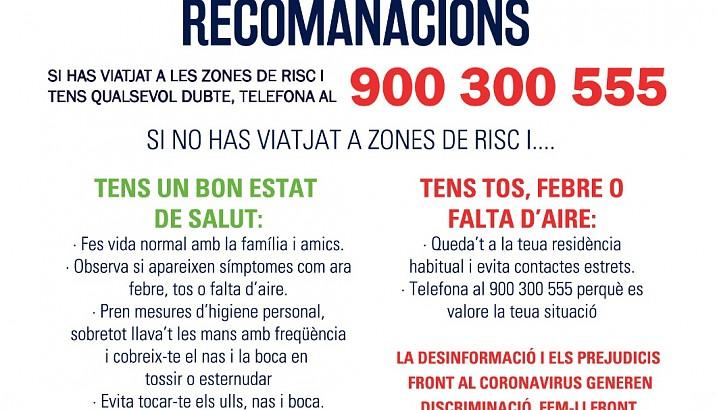 1r comunicat de l'Ajuntament de Pedreguer - Coronavirus (COVID-19)