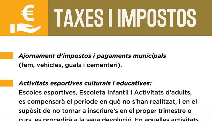 Mesures econòmiques i socials COVID-19, de l'Ajuntament de Pedreguer
