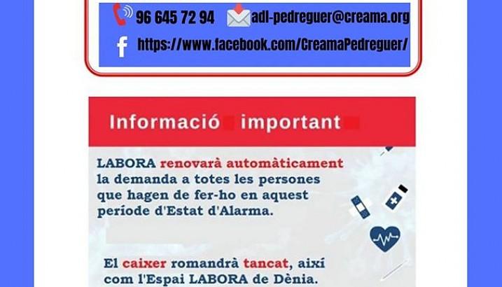 CREAMA Pedreguer informa: