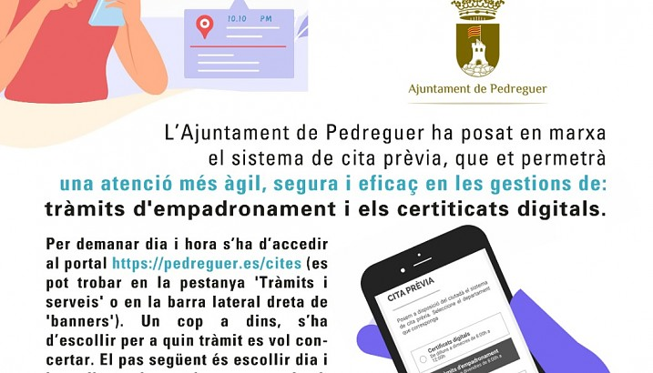 Nou servei de cita prèvia per a certificats digitals i tràmits d'empadronament