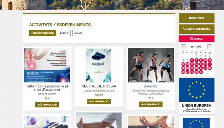 Nou servei on-line per inscripcions en activitats esportives i adquisició d'entrades per a actes culturals