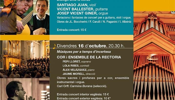 La música del Festival Internacional de Órgano de Pedreguer sale a la calle