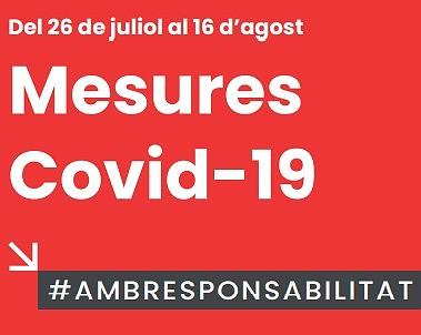 Actualització mesures COVID-19 fins el 16 d'agost
