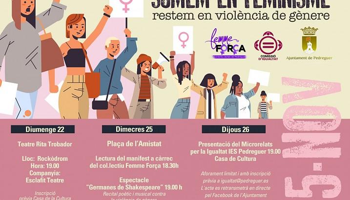 Pedreguer suma en feminismo y resto en violencia de género
