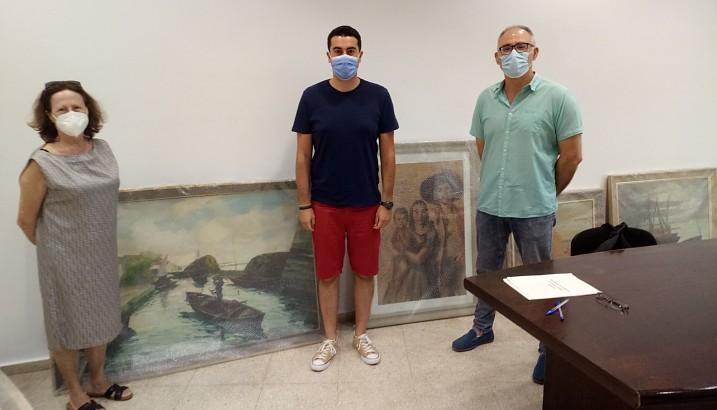 L'Ajuntament de Pedreguer recepciona les obres d'art donades per Maria Fornés Gilabert