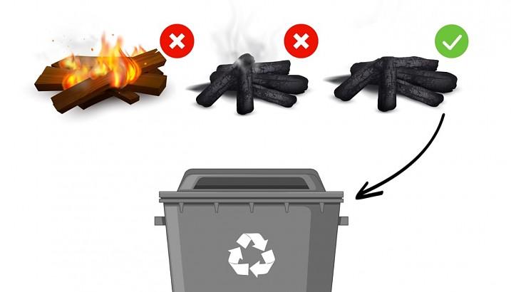 Llençar restes de xemeneies, cendres i brases sense apagar pot provocar incendis en els contenidors