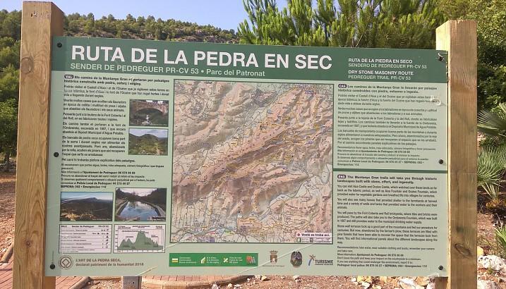 Pedreguer revaloriza la Ruta de la Piedra en Seco del Monte Grande