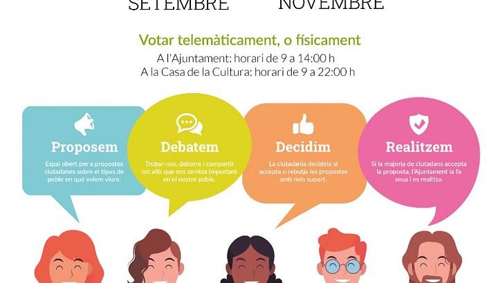 Comença la desena edició dels pressupostos participatius